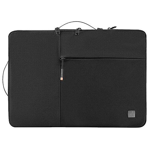 WiWU Alpha Double Layer Sleeve Handbag With Handle for 14 inch Laptop - Black