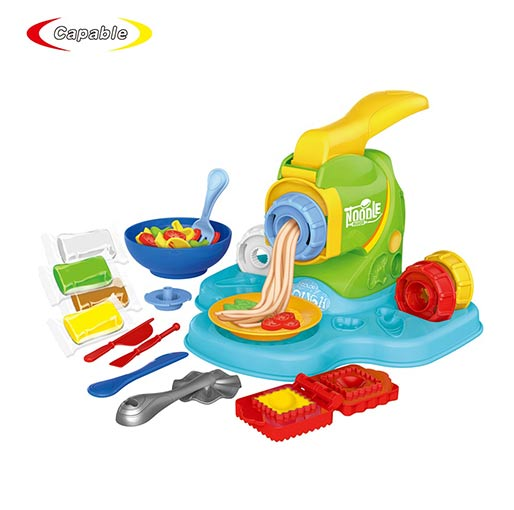 Buy Kids toy diy color play cooking noodle dough clay maker machine with bowl accessories at best price in Qatar.