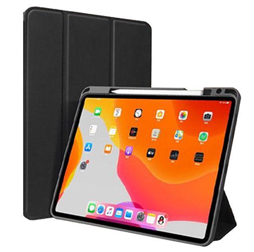 Green Premium Leather iPad Case iPad mini 2019 - Black