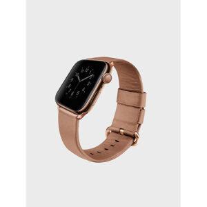 Buy Uniq Mondain Apple watch 4 Genuine Leather strap 44mm - Sand Beige at best price in Qatar.