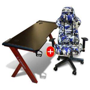 Buy QUBE Levin M2103C008 + QUBE N2011GD010 Combo Gaming Chair and Desk at best price in Qatar.