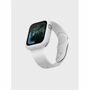 UNIQ Lino Premium Liquid Silicone Case for Apple Watch Series SE 6 5 4 (44mm) - White