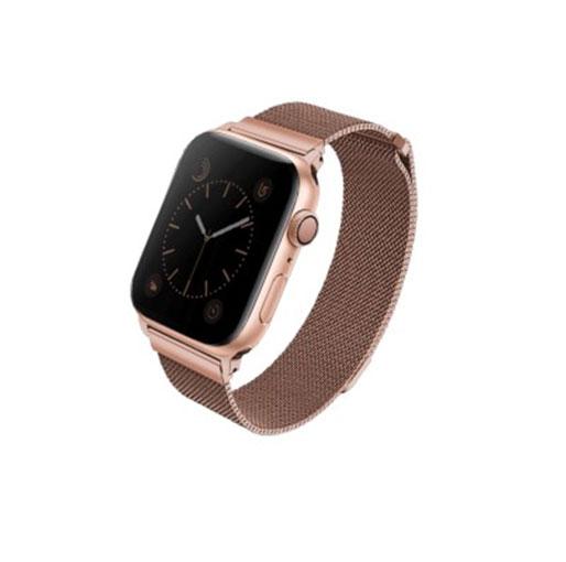 Uniq Dante Apple Watch Series 4 Mesh Steel Strap 44mm - Rose Gold