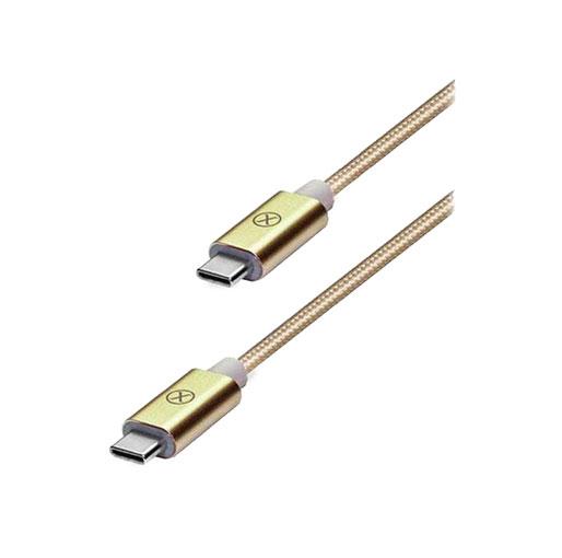 Xcell USB Type C Cable, 1.5 M, Nylon, CB-300CC - Gold
