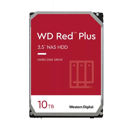 "Western Digital 10TB WD Red Plus NAS Internal Hard Drive HDD - 7200 RPM, SATA 6 Gb/s, CMR, 256 MB Cache, 3.5"" - WD101EFBX"