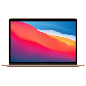 """Buy Apple 13.3"""" MacBook Air 2021 M1 Chip with Retina Display 8GB 256GB SSD - Gold at best price in Qatar."""