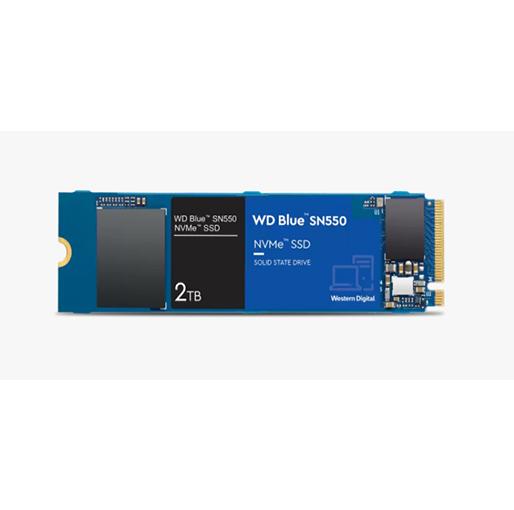 Buy Western Digital 2TB WD Blue SN550 NVMe Internal SSD - Gen3 x4 PCIe 8Gb/s, M.2 2280, 3D NAND, Up to 2,600 MB/s at best price in Qatar.