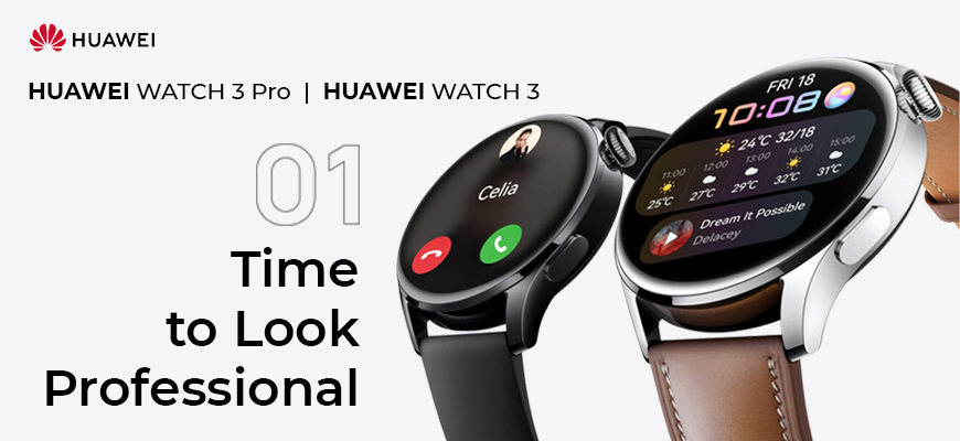 Huawei Watch 3 Pro & Huawei Watch 3 Launched! Its Specs, Price, & Availability in Qatar.