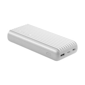 Buy Promate Titan 20000mAh High-Capacity Power Bank with 3.1A Dual USB Output- White at best price in Qatar.
