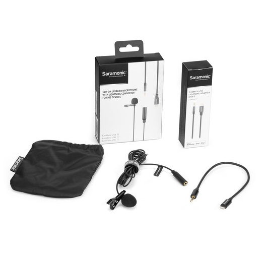 Buy Saramonic LavMicro U1A Omnidirectional Lavalier Microphone with Lightning Connector for iOS Devices (6.5' Cable) at best price in Qatar.
