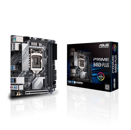 Buy ASUS PRIME B460I-PLUS (INTEL B460) LGA 1200 Mini-ITX motherboard with Aura Sync RGB header, M.2, DDR4 2933MHz, HDMI, DisplayPort, USB 3.2 Gen 1 ports, Intel® Optane memory ready, SATA 6 Gbps at best price in Qatar.