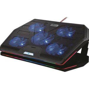 Buy Porodo Gaming Multi-Fan Cooling Pad - Black at best price in Qatar.