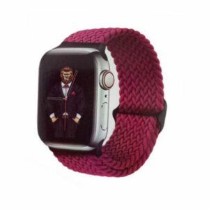 Green Braided Solo Loop Adjustable Strap for Apple Watch 38/40mm - Red Wine